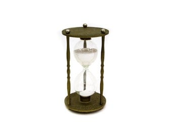 Vintage Brass and Glass Sand Timer