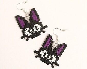 Kiki's Delivery Service Inspired Jiji Hama Bead Earrings