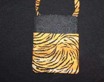 Tiger print runaround bag