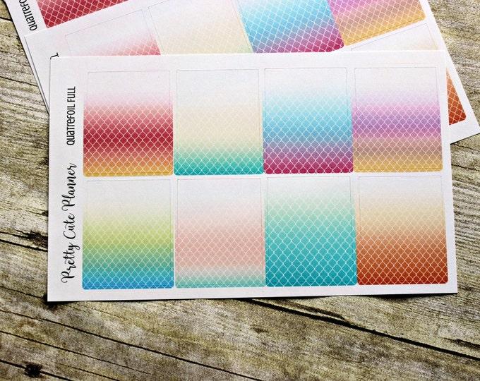 Full Box Planner Stickers - Planner Sticker Set - Erin Condren Life Planner - Happy Planner - Functional stickers - Quatrefoil Full Box