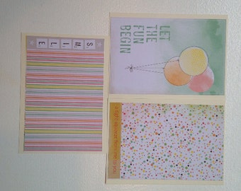 Set of 6 Blank Note Cards Stationary Set