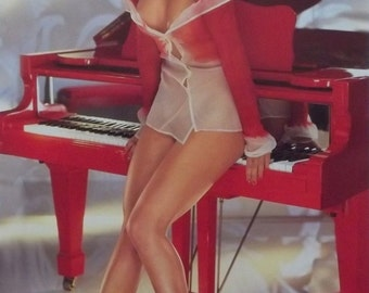 Victoria Silvstedt 23x35 Playboy Miss December Poster 2002 Pin Up Girl