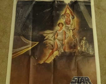 Star Wars 41x76.5 Original Theatrical Three 3 Sheet Movie Poster 1977 Rare