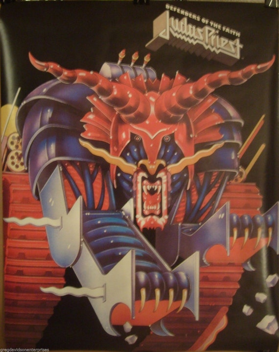 judas priest 22x28 defenders of the faith cover art 1984. Black Bedroom Furniture Sets. Home Design Ideas