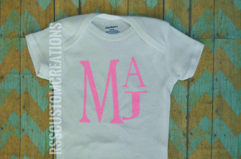 Baby Girl Clothes Monogrammed Bodysuit Baby Girl Monogram