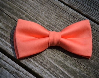 Kids And Men's Bow ties, Coral Bow Ties, Wedding Bow Tie