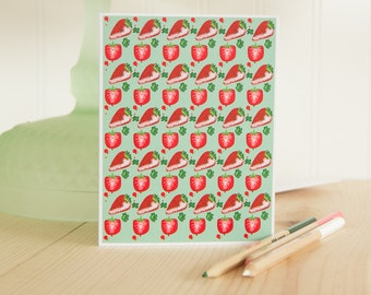 Strawberry Card, Strawberries Card, Fruit Card