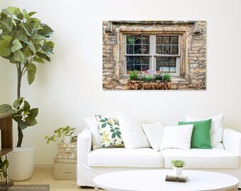 Acrylic Mounted Prints, Castle Combe, England, The Mask in the Window, Fine Art Photography