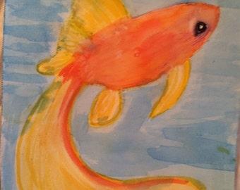 Watercolour fish print