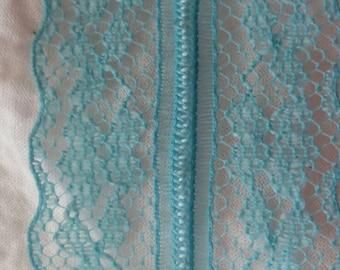 "Vintage Blue Lace with scallop edges. 1 1/4"" wide"