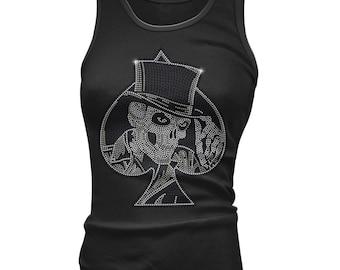 Handmade diamonte skull tshirt Xs - Xl