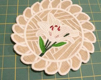 White Lily Doily