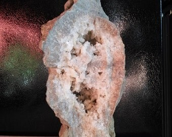 20+lbs uncut in polished geode crystal