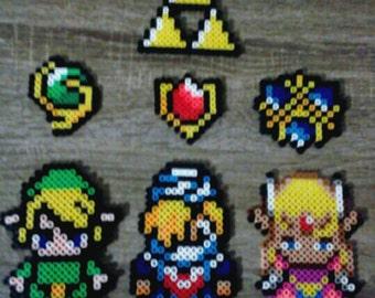 Legend of Zelda - Link, Sheik, Princess Zelda Perler Beads
