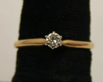 diamond engagement ring in yellow gold size 6.5 i-1344