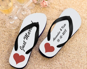 Personalized Flip Flops, Wedding Party Flip Flops