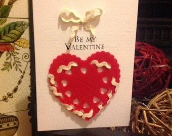 Be My Valentine Handmade Greeting Card