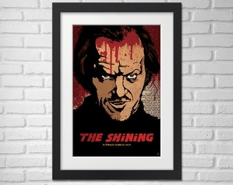 The Shining Movie Poster Illustration / The Shining Movie Poster / The Shining / Movie Poster / Jack Nicholson
