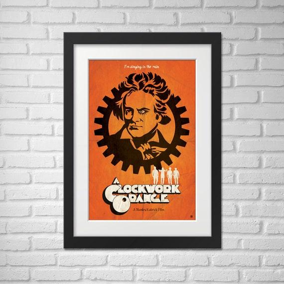 A Clockwork Orange Illustration Movie Poster / A Clockwork Orange Movie Poster / A Clockwork Orange / Movie Poster / Beethoven