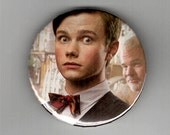 "ONE of a KIND TV Star Chris Colfer 2 1/4"" Button - Glee Kurt Hummel"