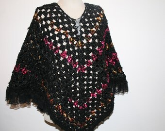 Black poncho and his lace