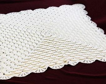Crochet Blanket Full-cream ice