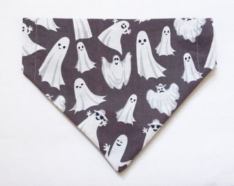 Halloween dogs bandana Halloween cats bandana Halloween dog costume Dog neckerchief Ghost bandana Bat bandana Halloween dog collar