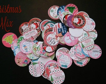 Christmas Precut Bottle Cap Images