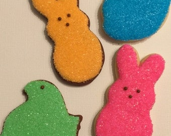 Peep sugar cookies