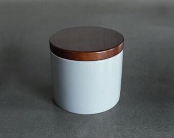 Ceramic Jar with Wood lid