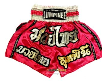 Custom Champ Lumpinee Muay Thai Boxing Shorts Martial Arts - Pink