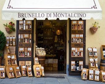 Wine Shop, Montalcino Italy, Tuscan Wine Store, Enoteca Montalcino Italy, Brunello Montalcino Print, Fine Art Photograph, Wall Decor