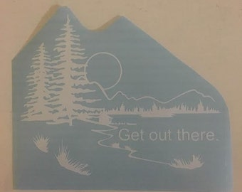 Get Out There. Lake Edition Decal