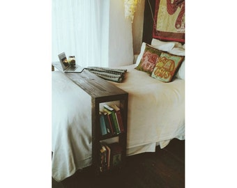 Rustic/Industrial Handmade Over the Bed Desk