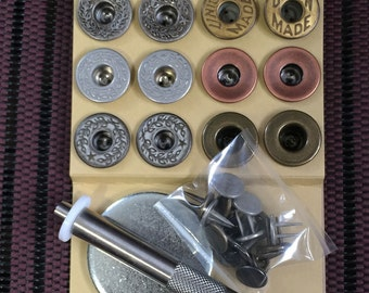 Button assortment and tool-kit