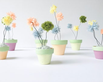 Pom Pom Flower Pot Garden Set