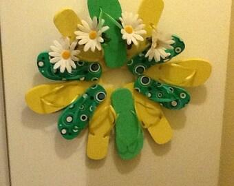 Handmade flip flop wreath