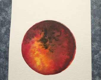 Planet Venus Watercolor Painting