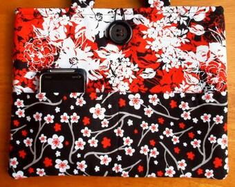Padded With Pockets iPad Case, iPad Cover, iPad Sleeve, iPad Holder Tote Red & Black
