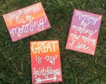 Choose one! 5x7 Canvas - Sunrise Series