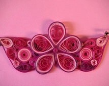 Quilled Necklace, Purple Flower