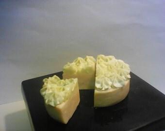 All natural Avocado & cream soap cake (slice)