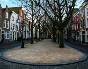 Dutch Street Scene. Travel Photography. Fine Art Print. Wall Art. Home Decor. Holland Picture. Europe. Leiden. Amsterdam.