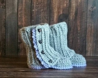 Crochet Baby Wrap Boots, Baby Booties, Baby Gift, Baby Girl Boots, Baby Shoes, Crochet Baby Boots, Baby Girl Accessory,  Photo Prop