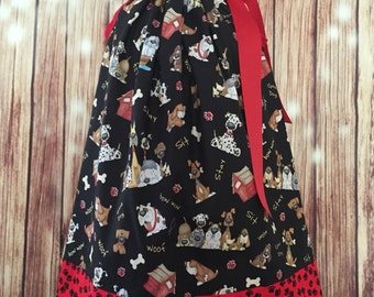 Pillowcase dress with puppies, Dress for girls with dogs, Pillowcase dress with dogs, Dress with dogs, Dress with puppies