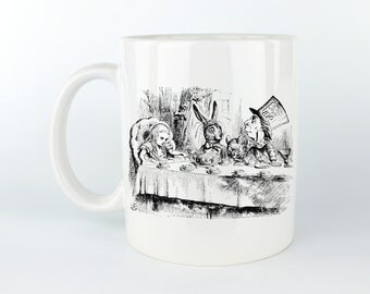 Mad Tea Party - Alice In Wonderland - 11 oz Coffee Mug / Tea Cup