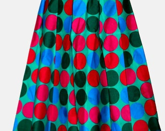 Ankara pleated Skirt. ..