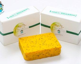 Organic Peppermint Poppy Seed Soap