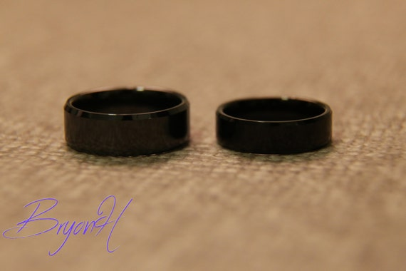 his and hers 5mm 6mm ring band set 1 engraving included on