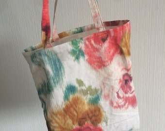 Floral tote bag/flowers shopper